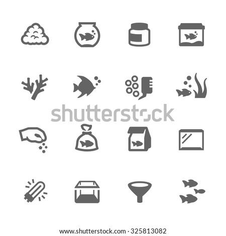 simple set of aquarium related