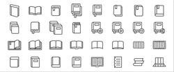 Simple Set of book, literature and reading Related Vector icon graphic design template. Contains such Icons as open book, book shelf, closed book and more