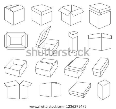 Packing Boxes Vector Icons