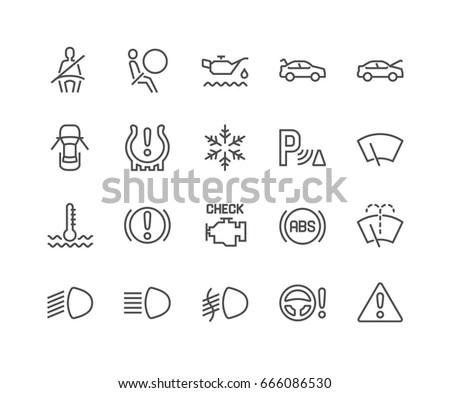 simple set of car dashboard