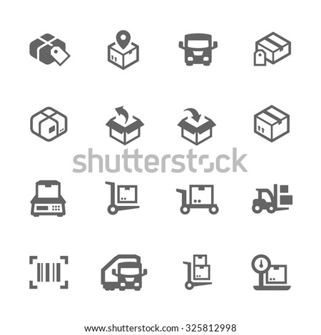 Simple Set of Cargo Related Vector Icons for Your Design. #325812998