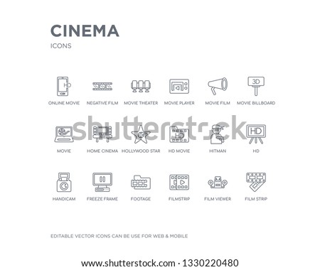 simple set of cinema vector