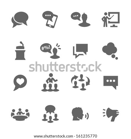 Simple set of communication related vector icons for your design.
