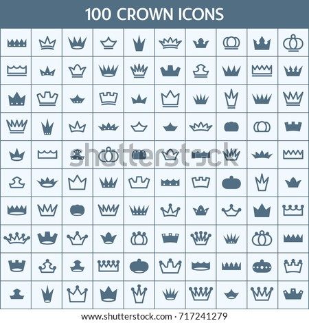 Simple Set of Crown Related Vector Icons. Contains such Icons as Vintage, Insignia, King, Imperial, Royal, Emperor, Monarch and more.
