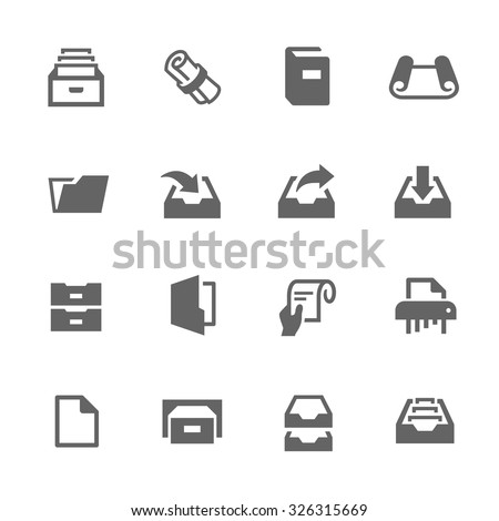 Simple Set of Document Related Vector Icons for Your Design.