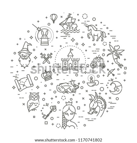 Simple Set of Fantasy Related Vector Line Icon #1170741802