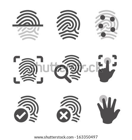 simple set of fingerprint