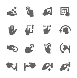 Simple set of hands related vector icons for your design.