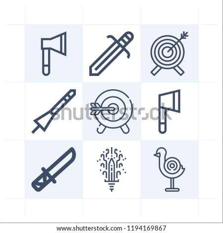simple set of 9 icons related