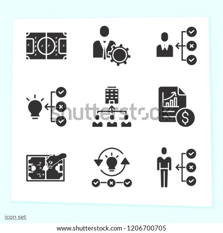 Simple set of 9 icons   such as teamwork, skills, management, analytics, football game plan on field symbols #1206700705