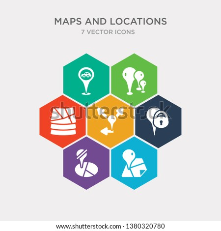 simple set of location data, location off, locked place, map direction icons, contains such as icons map layer, map pin, transports and more. 64x64 pixel perfect. infographics vector
