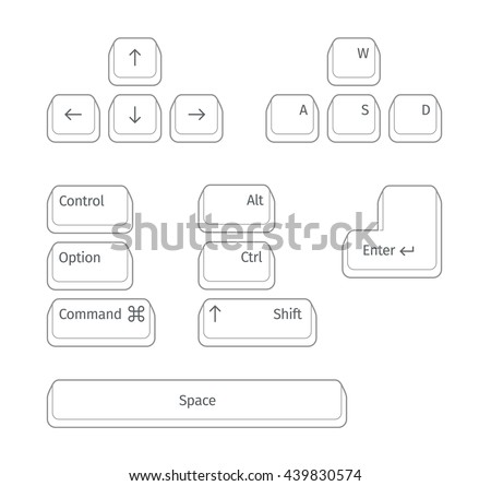 Simple set of Main Keyboard Keys.