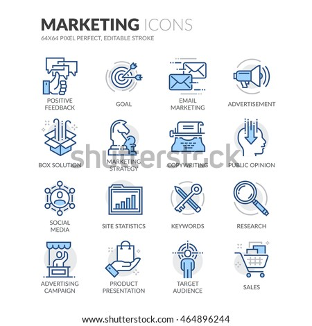 simple set of marketing related