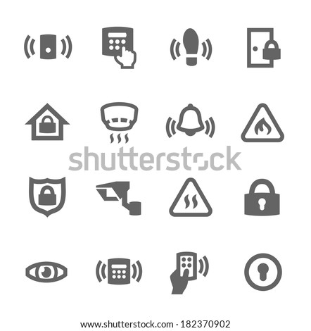 Simple set of media related vector icons for your design