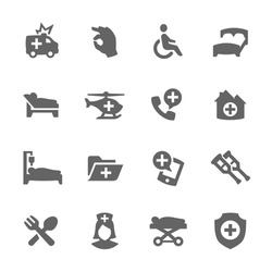 Simple Set of Medical Transportation Related Vector Icons for Your Design.