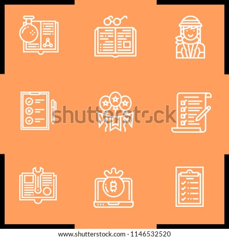 simple set of 9 outline book...