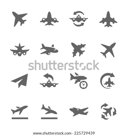 Simple Set of Planes Related Vector Icons for Your Design.