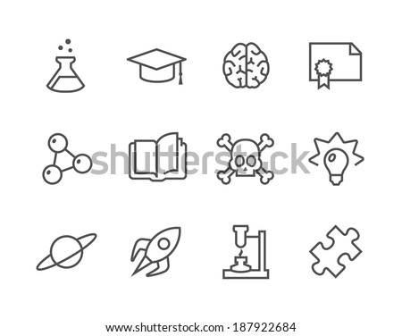 Simple set of Science related vector icons for your design