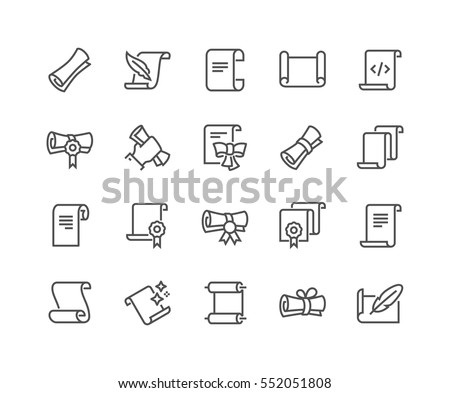 simple set of scrolls and