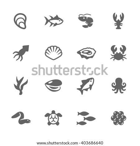 simple set of sea food related