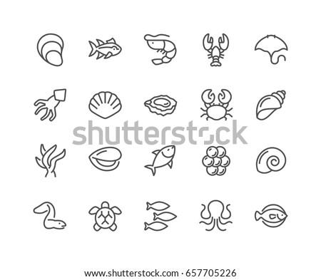 simple set of sea food related