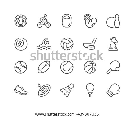 simple set of sport equipment