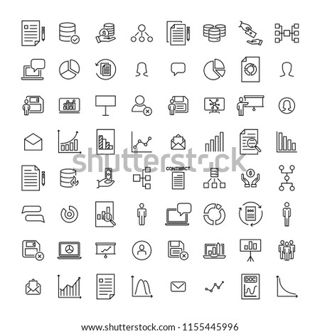 Simple set of teamwork related outline icons. Elements for mobile concept and web apps. Thin line vector icons for website design and development, app development. Premium pack.