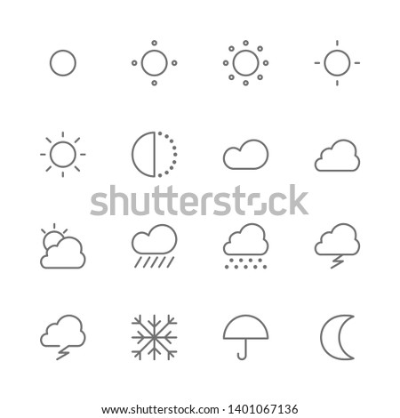simple set of weather and