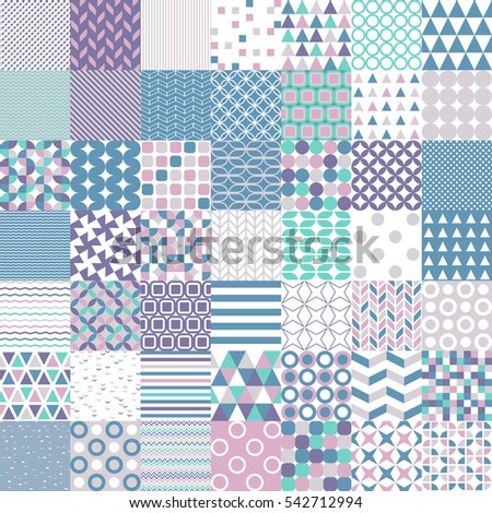 simple shapes seamless vector