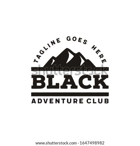 simple sharp bold mountain logo