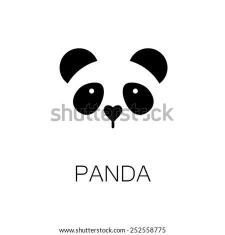 simple sign a panda - design template