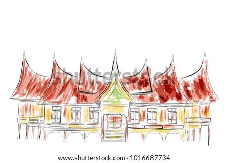 simple sketch of west sumatera