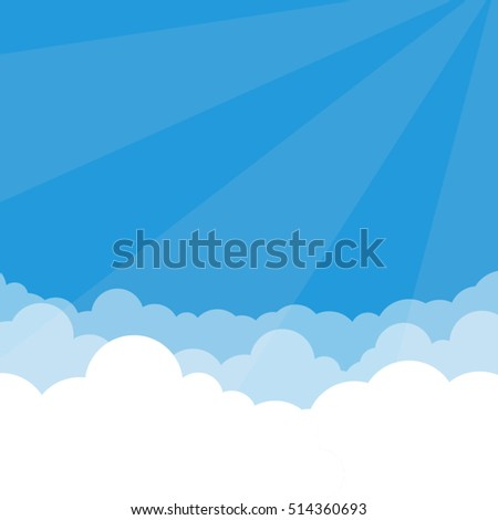 simple sky and clouds vector