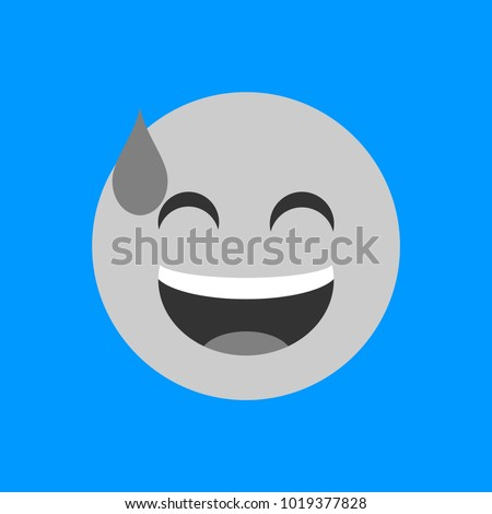 Simple Smile Face Emoticon Flat Emoji Ez Canvas