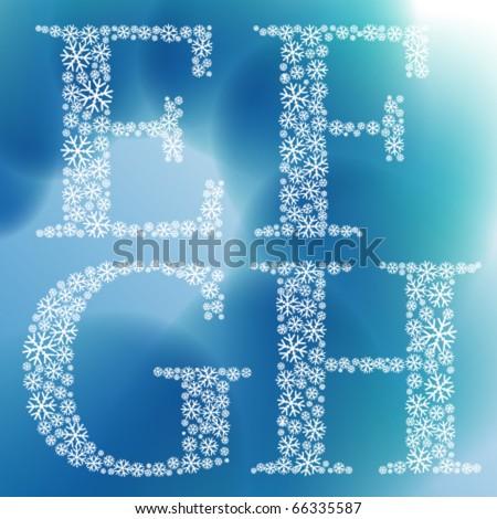 Snowflake vector font
