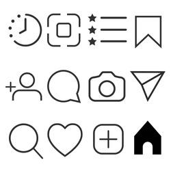 Simple social media icon set, vector illustration. Network concept.