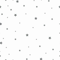 Simple star pattern. Small gray stars. White background. Vector texture. Fashionable print for Wallpaper and packaging.