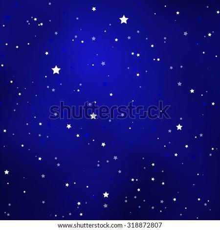 simple starry royal blue sky