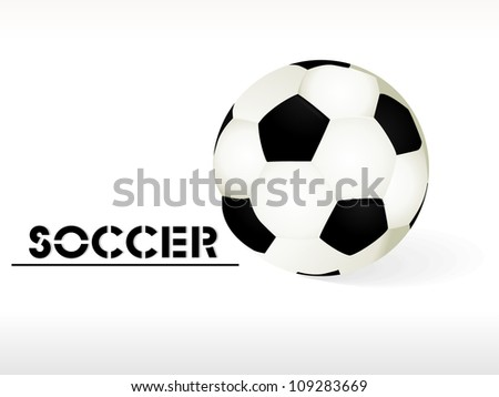 Simple style football / soccer ball isolated on wave background