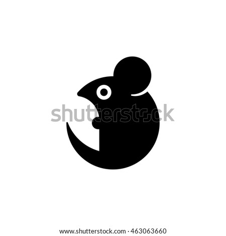 simple stylized cartoon mouse