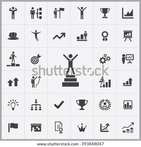 simple success icons set
