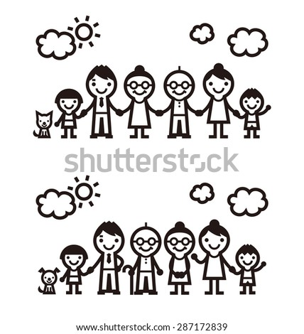 simple symbolic family icon