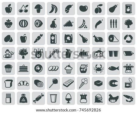 simple symbols of a foodstuff. Vector illustration