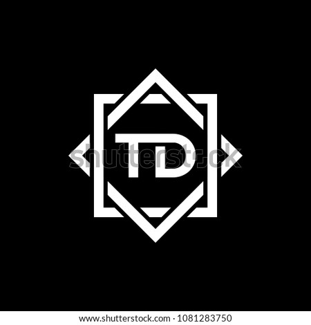 Simple TD initial Logo design template vector illustration
