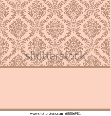 stock vector Simple template for wedding invitation anniversary card or