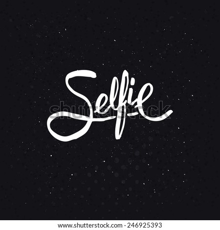simple text design for selfie