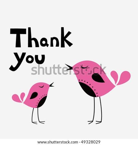 bird thank you cards