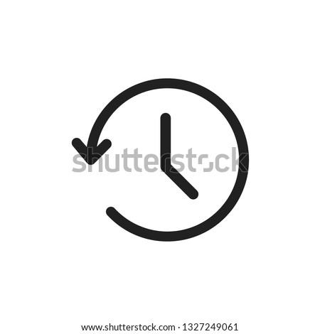 Simple thin line history icon, Web browsing history symbol