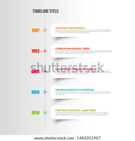 simple timeline template with