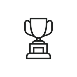 Simple trophy line icon. Stroke pictogram. Vector illustration isolated on a white background. Premium quality symbol. Vector sign for mobile app and web sites.